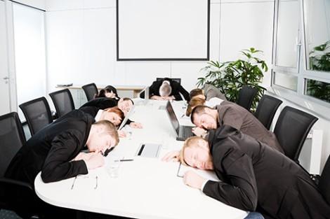 bunch of workers sleeping