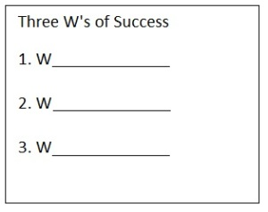 3 Ws of Success