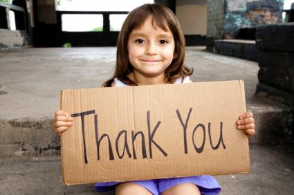 be grateful, show gratitude