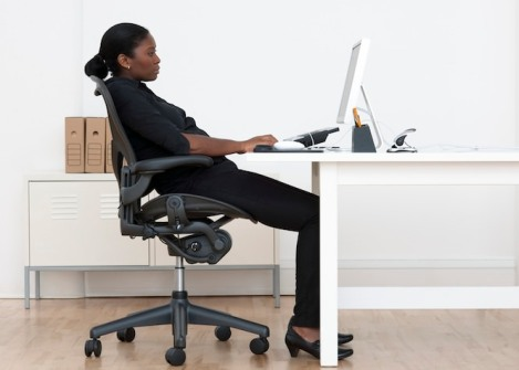 Incorrect seated posture