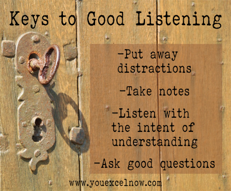 Keys to Good Listening