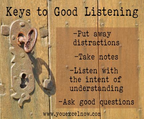 Keys to Good Listening
