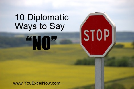 diplomatic and creative ways to say no